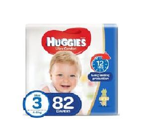 Huggies Ultra Comfort Baby Diapers Junior Pack Size 3 4-9 kg 82pcs