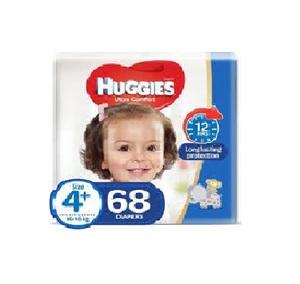 Huggies Ultra Comfort Baby Diapers Junior Size 4+ 9-20 kg 68pcs