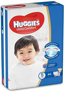 Huggies Ultra Comfort Diapers Size 5 Carry Pack 12-22 kg 64pcs