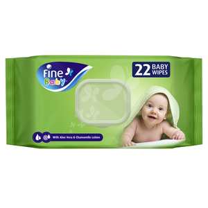 Fine Baby Wet Wipes with Aloe Vera & Chamomile Lotion 22s