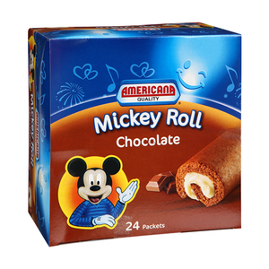Americana Mickey Roll Chocolate 24x25g