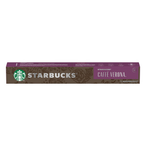 Starbucks Caffe Verona by Nespresso Dark Roast Coffee Capsules Tube of 10 55g