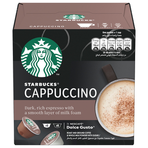 Starbucks Cappuccino by Nescafe Dolce Gusto Coffee Pods  Box of 6+6 120g