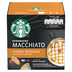 Starbucks Caramel Macchiato by Nescafe Dolce Gusto Coffee Pods Box 127.8g