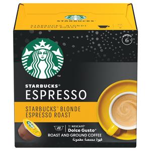 Starbucks Blonde Espresso Roast by Nescafe Dolce Gusto Blonde Roast Coffee Pods Box 66g
