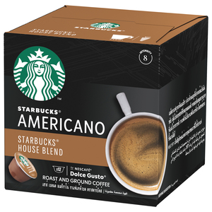 Starbucks House Blend by Nescafe Dolce Gusto Medium Roast Coffee Pods  Box of 12 102g