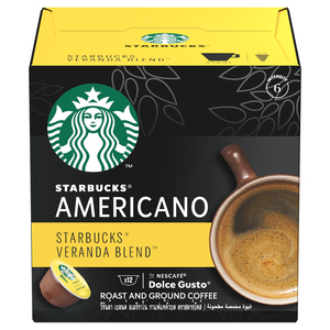 Starbucks Veranda Blend by Nescafe Dolce Gusto Blonde Roast Coffee Pods Box 102g