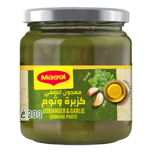 Maggi Coriander And Garlic Cooking Cooking Paste Olive Oil Coriander Leaves and Garlic 200g