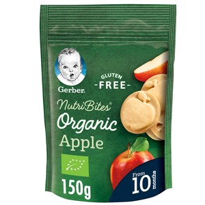 Gerber Organic Nutribites Apple Biscuits Pouch 150g