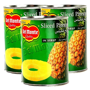 Delmonte Sliced Pineapple Syrup 3x567g
