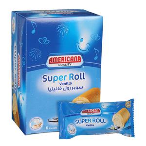 Americana Super Roll Vanilla 6x60g