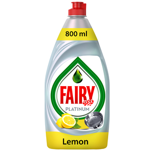 Fairy Platinum Lemon Dish Washing Liquid Soap 2x800ml
