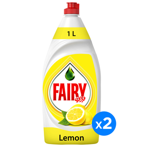 Fairy Lemon Dish Washing Liquid Soap 2x1L