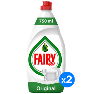 Fairy Original Dish Washing Liquid Soap 2x1L
