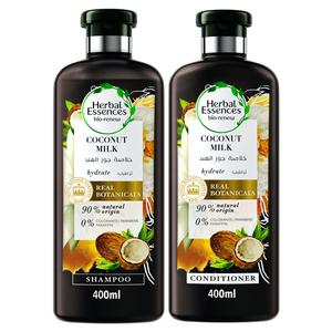 Herbal Essences Bio Renew Hydrate Coconut Milk Shampoo With Conditioner 400ml+400ml