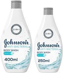 Johnson's Anti Bacterial Sea Salt Body Wash 400ml+250ml