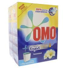Omo Active Auto Laundry Detergent Powder With Touch Of Comfort Perfume 2x2.5kg