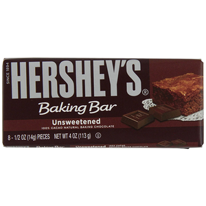 Hershey's Baking Bar Unsweetened 113g