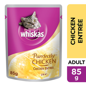 Whiskas Purrfectly Chicken Entrée Wet Cat Food Pouch 85g