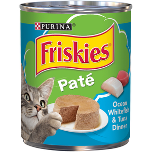 Purina Friskies Wet Can Pate Ocean White Fish Cat Food 369g