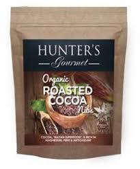 Hunters Roasted Cocoa Nib Gourmet Organic 150gm