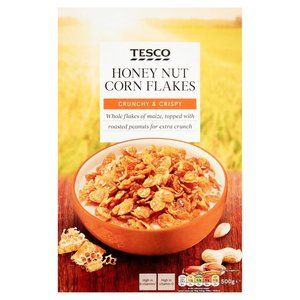 Tesco Cornflakes Honey & Nut 500g