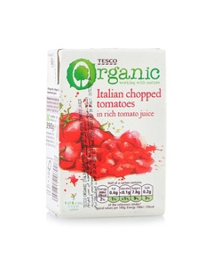 Tesco Chopped Tomatoes Organic 390g