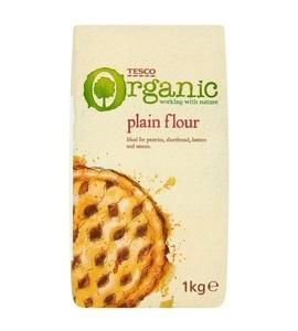 Tesco Plain Flour Organic 1kg