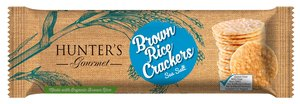 Hunters Brown Rice Crackers Gourmet Sea Salt 100gm
