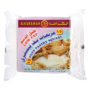 Al Karamah Low Fat 18 Puff Pastry Square 18x400g