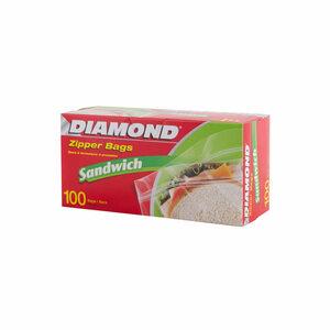 Diamond Sandwich Bag Zipper 100bags