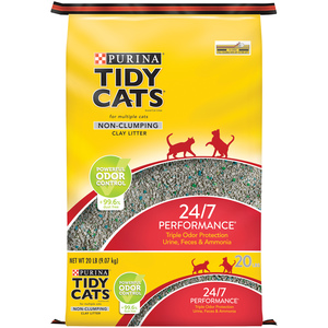 Purina Tidy Cats Non Clumping Cat Litter 24/7 Performance 9.07kg