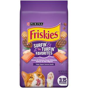 Purina Friskies Surfin & Turfin Favourites Cat Dry Food 1.43kg
