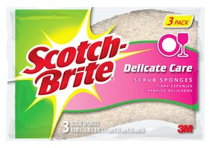 Scotch Brite Delicate Duty Scrub Sponge 3pc