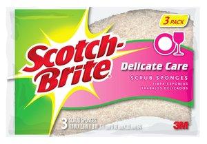 Scotch Brite Delicate Duty Scrub Sponge 3pc