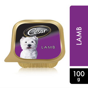 Cesar Lamb Wet Dog Food Can Foil Tray 100g