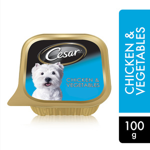 Cesar Chicken & Vegetables Wet Dog Food Foil Tray 100g
