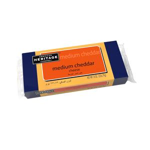American Heritage Cheddar Cheese Block Medium 227g