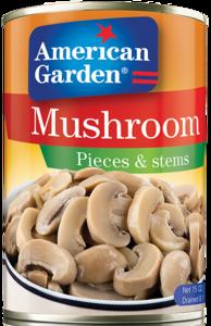American Garden MUShroom Pcs & Stems 15oz - 425g