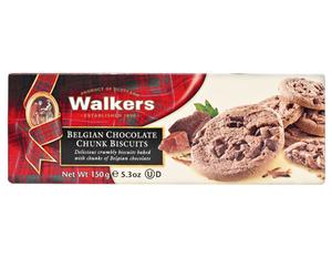 Walkers Choc Chunk Bisc 150g