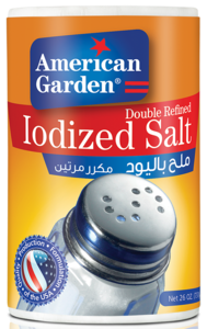 American Garden Iodized Salt Double Refined 26oz - 737g