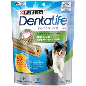 Purina Dentalife Dog Treats Daily Oral Care For Small/Medium Dogs 198g