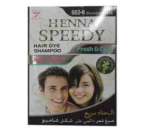 Henna Hair Dye Shampoo   Brownish Black 30ml