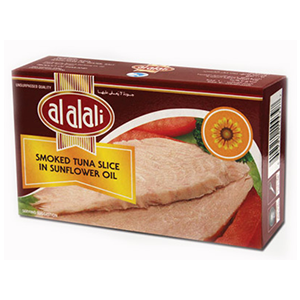 Al Alali Smoked White Tuna Slices In Sunflower Oil 100g