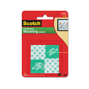 Scotch Mounting Squares 1x1 8pc