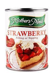 Mothers Maid Strawberry Pie Filling 21oz
