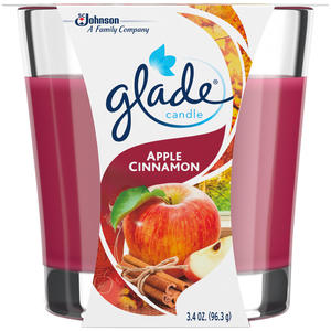 Glade Candle Apple & Cinnamon 3.4oz