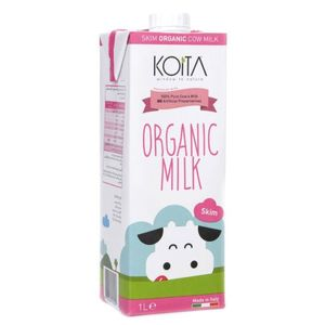 Koita Organic Skimmed Milk No Artificial Preservatives 1L