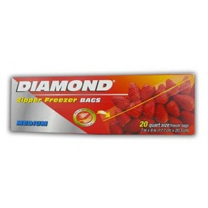 Diamond Freezer Bag Medium 20pc