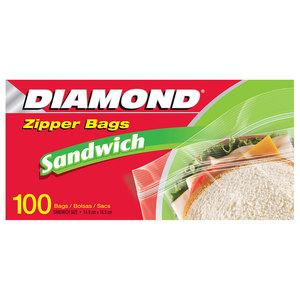 Diamond Sandwich Bag Zipper 50bags